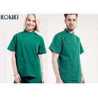 Buy cheap Mens Medical Scrubs Uniforms , Short Sleeve Cotton Surgical Gown Green from wholesalers