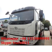 FAW J6 13,000L stainless steel foodgrade milk tank truck for sale, China famous FAW brand liquid food truck for sale Manufactures
