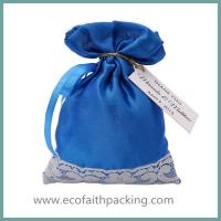 Buy cheap satin wedding favor sweet bag with lace from wholesalers