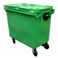 Buy cheap HDPE Plastic Waste Bins Garbage Container with Lid from wholesalers