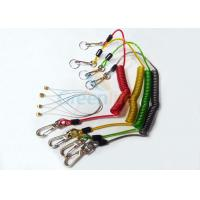 Buy cheap Stainless Wire Reinforced Plastic Coil Lanyard Custom Colored PU Cover from wholesalers