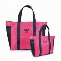 Buy cheap 420D Jacquard Polyester Tote Bags with PVC Backing, Customized Designs are Welcome from wholesalers