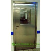 Buy cheap Single-leaf Stainless Steel Fire Resistant Security Glass Door In Satin Finish from wholesalers