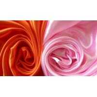100 Polyester Satin Fabric By The Yard , Pink Stretch Satin