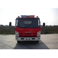 Wholesale 2x Halogen Lamp Tanker Fire Truck , 260 L/Min Flow Light Rescue Fire Trucks 4x2 Chassis from china suppliers