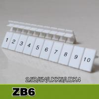 Buy cheap ZB6 UK2.5B UK5N Din Rail Terminal Blocks Maker Strips with Number Printed from wholesalers