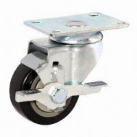 Buy cheap Medium-duty mini PVC caster with total brake from wholesalers