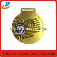 Buy cheap Matt gold plated die cast medal, souvenir award ribbon medals for souvenir from wholesalers