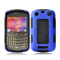 China 2 in 1 Combo Case for Blackberry Bold 9360 Blue (PC+silicone) on sale