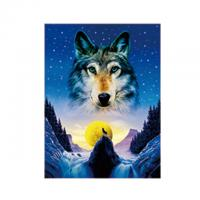 Wholesale Animal 3D Lenticular Pictures For Office Decoration / 3D Wolf Picture from china suppliers