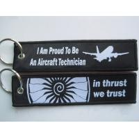 I Am Proud To Be An Aircraft Technician In Thrust We Trust OEM Cloth Keyring with Your Deisgn Manufactures