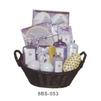Buy cheap Basket Bubble Bath Gift Set , 20g Bath Gloves , Wooden Brush #8BS-053 from wholesalers