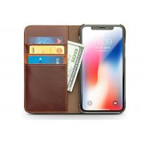Buy cheap Antiknock iPhone X Leather Cover with Card Holder / Slim Wallet Folio Case from wholesalers