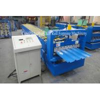 Automatic Roof Sheet Galvanized Steel Roll Forming Machine With 19 Row Rollers Manufactures