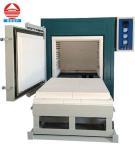 Buy cheap 1200C Electric high temperature heat treatment furnace car bottom furnace small ceramic kiln furnace from wholesalers