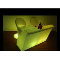 Buy cheap Glowing Led Light Furniture Commercial Illuminated Wave Shape Counter Bar Table from wholesalers