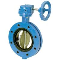 Buy cheap Concentric rubber seat double flange butterfly valve from wholesalers