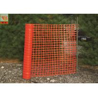 Buy cheap Temporary Plastic Construction Netting  , HDPE Orange Construction Safety Fence from wholesalers