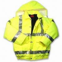 China High-cut Storm Collar Bomber Jacket, Made of Heavy Duty 300D Polyester on sale