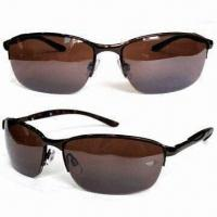 Buy cheap Brown Lens Sport Sunglasses, Available in Various Lenses/Frame Colors, Suitable for Men from wholesalers