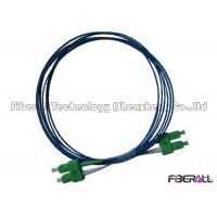 Buy cheap Two Cores SC APC To SC APC Fiber Patch Cord With 2.0mm LSZH Blue Optical Cable from wholesalers