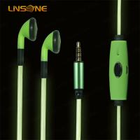 Buy cheap 3.5mm led light wire earphone for phone from wholesalers