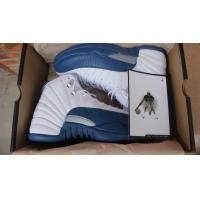 Wholesale Nike Air Jordan 12 shoes in white blue Retro basketball shoes men's sneakers Manufactures