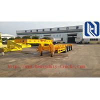 Buy cheap SINO TRUK Utility 3 Axles Semi Trailer Trucks / Flat Low Bed Trailer from wholesalers