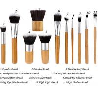 China 11 Pieces Bamboo Makeup Brushes With Handle , Ecotools Foundation Brush on sale