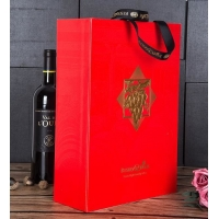 Buy cheap Recycled Wine Bottles Cardboard Paper Boxes With Handles from wholesalers