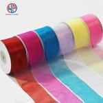 Buy cheap Most popular colorful 100% pure silk sheer organza ribbon from wholesalers