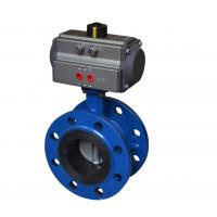 Flange Connection Ball Valve Pneumatic Actuator Aluminium Alloy Material CE Approved