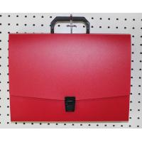 Buy cheap 13 Pockets Red A4 Business File Folder PlasticDocument Bags With Handle from wholesalers