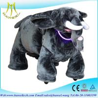 China Hansel CE zoo plush electric ride toys scooters battery operated ride animals for kids on sale