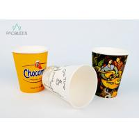 Wholesale Leak Proof Single Wall Paper Cups PE / PLA Lining For Hot Drinking from china suppliers