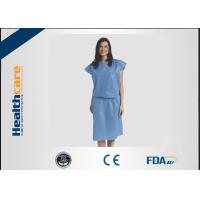 Buy cheap Short Sleeve Disposable Isolation Gowns Non Woven Heavy Blue Medline Gowns Anti Permeate from wholesalers