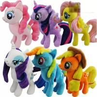 8 inch Cute and Lovely Cartoon Plush Toys My Little Pony  Family Collection Plush Toys Manufactures