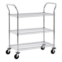 Buy cheap Adjustable Wire Shelf Cart With Pull Handle Restaurant 36 W X 14 D X 38 H from wholesalers