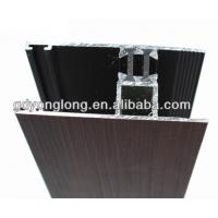 China Wood Grain Visible Aluminum Frame Glass Curtain Wall Glass Roof Framing Aluminum Profile on sale