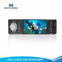 Buy cheap Hd 1 Din Android Head Unit Fixed Panel Car USB Radio  With BT FM AUX SD Stereo from wholesalers