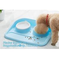 Buy cheap Double stainless steel dog bowl pet cat feeder water food dog bowl, No-Spill and Non-Skid Stainless Steel Pet Bowls Dog from wholesalers