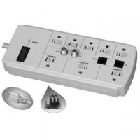 Buy cheap US 8 outlet floor power bar with surge protector, ETL approved from wholesalers