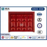 Wholesale 2  Latch Fireproof Garage Entry Door / Yellow Fire Rated Entry Door With Glass from china suppliers