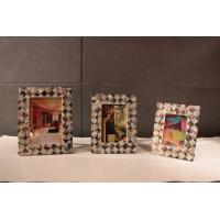 Buy cheap Customized Picture Frames , Plywood Frame with Shell Decoration from wholesalers