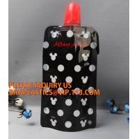 Buy cheap Custom 480ml BPA Free Foldable Reusable Water Bag,BPA free,FDA food grade/MSDS and cheap foldable pe water bag,promotion from wholesalers