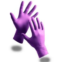 Buy cheap Disposable examin Nitrile Gloves,Powder Free, purple, blue, S M L XL size, AQL1.5 from wholesalers