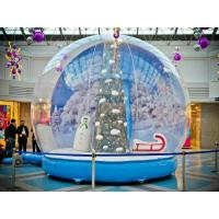 Buy cheap PVC Transparent Giant Inflatable Christmas Ball , Lighted Inflatable Snow Ball Customizable from wholesalers