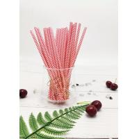 Buy cheap Eco - Friendly Red Paper Drinking Straws Customized Size Non - Stick Detached Easily from wholesalers