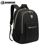 Wholesale Waterproof Black Backpack With Gold Zippers , Fashion Double Zipper Backpack from china suppliers