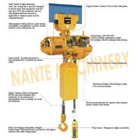 Buy cheap Compact  0.5 ton 2 Ton Electric Hoist  For Crane / Travelling Type / Fixed Type from wholesalers